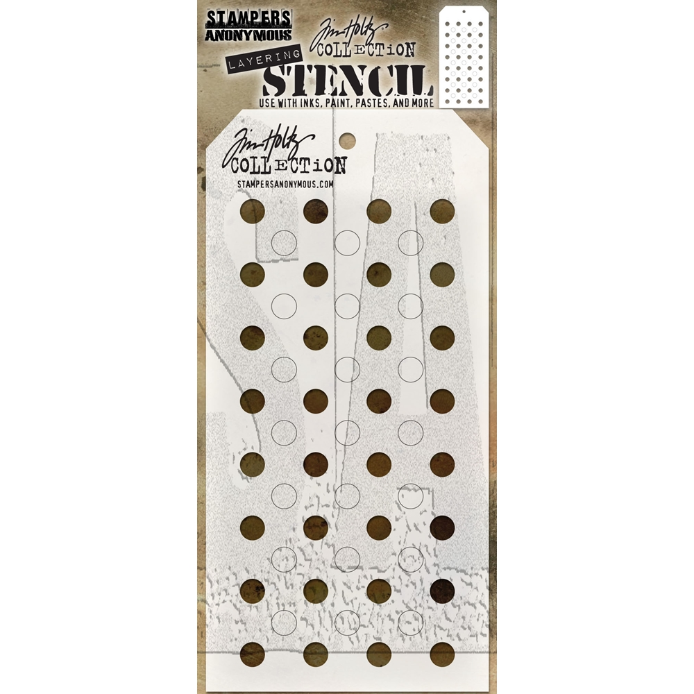 Tim Holtz Layering Stencil SHIFTER DOTS THS109 zoom image