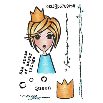 Inky Antics THE QUEEN'S QUIPS Clear Stamp Set 11411mc