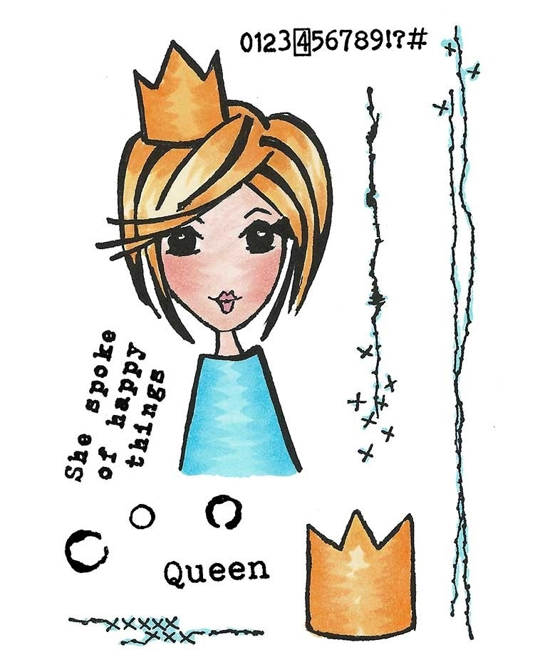 Inky Antics THE QUEEN'S QUIPS Clear Stamp Set 11411mc zoom image