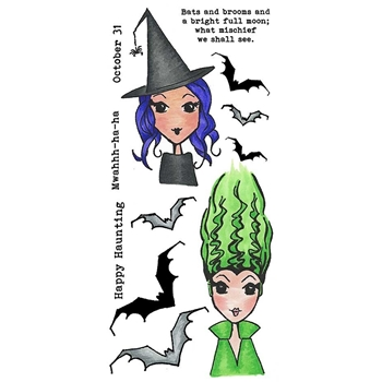 Inky Antics HAPPY HAUNTING Clear Stamp Set 11415lc