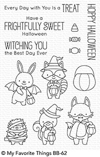 My Favorite Things FRIGHTFULLY SWEET Clear Stamps BB62