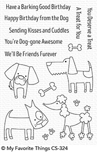 My Favorite Things DOG-GONE AWESOME Clear Stamps CS324