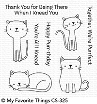 My Favorite Things CUTE CATS Clear Stamps CS325