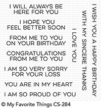 My Favorite Things FROM ME TO YOU Clear Stamps CS284 Preview Image