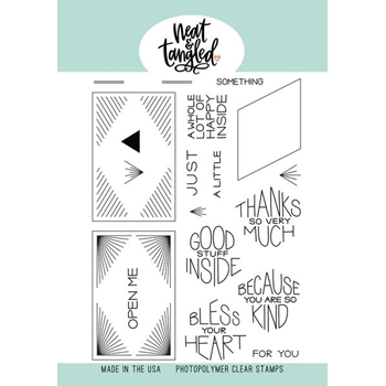 Neat and Tangled THANKS SO MUCH Clear Stamps NAT410