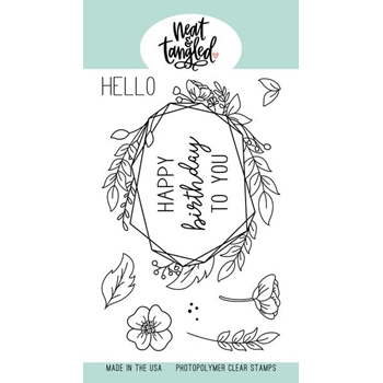 Neat and Tangled FLORAL FRAME Clear Stamps NAT405