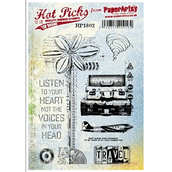 Paper Artsy Stamp HOT PICK 1802 Rubber UM hp1802