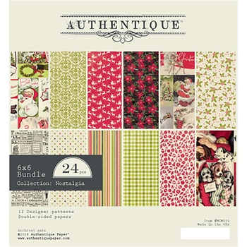 Authentique 6 x 6 NOSTALGIA Paper Pad ncm014