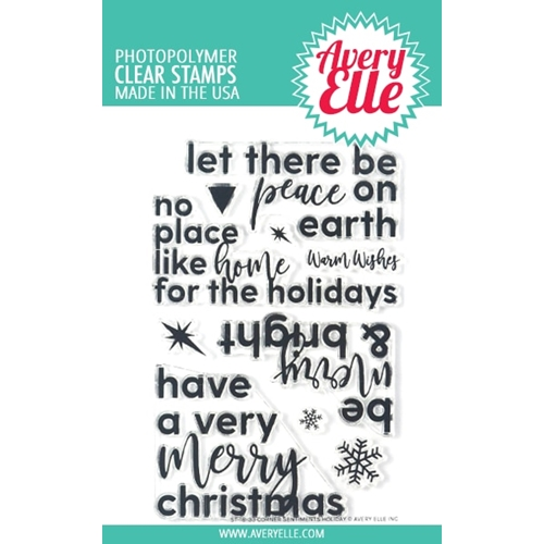 Avery Elle Clear Stamps CORNER SENTIMENTS HOLIDAY ST-18-33 Preview Image