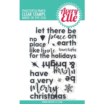 Avery Elle Clear Stamps CORNER SENTIMENTS HOLIDAY ST-18-33
