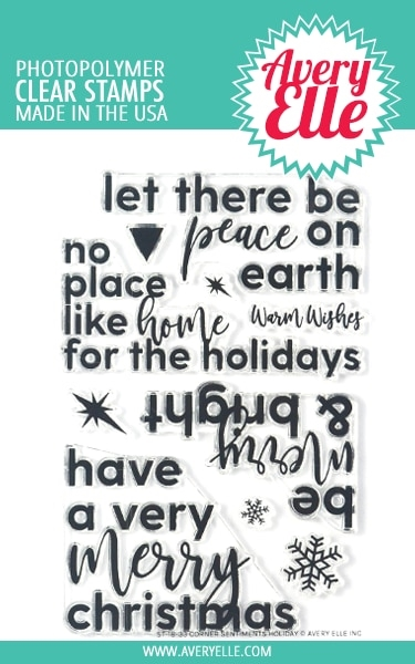 Avery Elle Clear Stamps CORNER SENTIMENTS HOLIDAY ST-18-33 zoom image