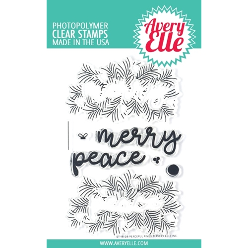 Avery Elle Clear Stamps PEACEFUL PINES ST-18-28 Preview Image
