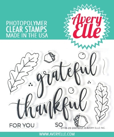 Avery Elle Clear Stamps GRATEFUL ST-18-29  Preview Image