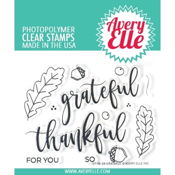 Avery Elle Clear Stamps GRATEFUL ST-18-29