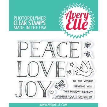 Avery Elle Clear Stamps SENDING PEACE ST-18-30