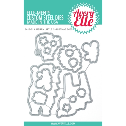 Avery Elle Steel Dies A MERRY LITTLE CHRISTMAS D-18-31 Preview Image