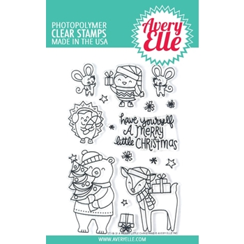 Avery Elle Clear Stamps A MERRY LITTLE CHRISTMAS ST-18-31