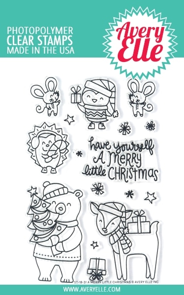 Avery Elle Clear Stamps A MERRY LITTLE CHRISTMAS ST-18-31  zoom image