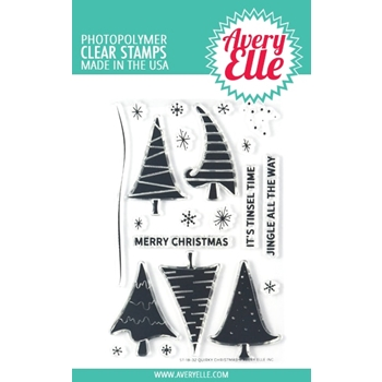 Avery Elle Clear Stamps QUIRKY CHRISTMAS ST-18-32