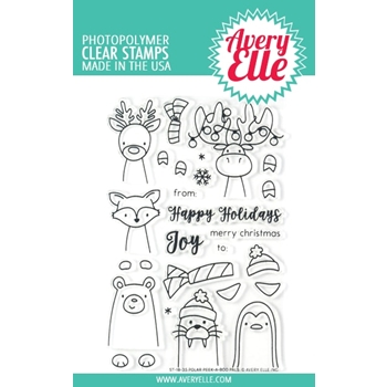 Avery Elle Clear Stamps POLAR PEEK A BOO PALS ST-18-35