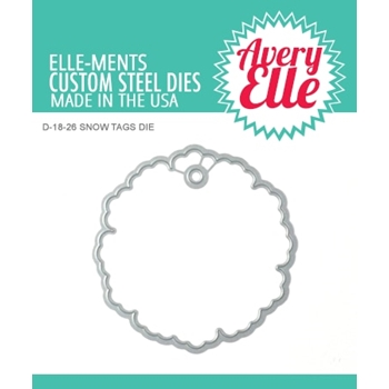 Avery Elle Steel Dies SNOW TAGS D-18-26