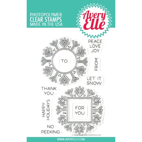 Avery Elle Clear Stamps SNOW TAGS ST-18-26 Preview Image