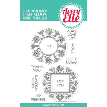 Avery Elle Clear Stamps SNOW TAGS ST-18-26