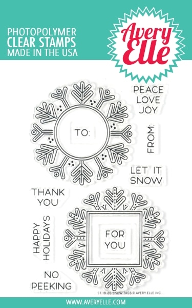 Avery Elle Clear Stamps SNOW TAGS ST-18-26 zoom image