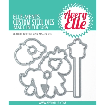 Avery Elle Steel Dies CHRISTMAS MAGIC D-18-34