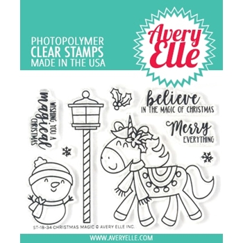 Avery Elle Clear Stamps CHRISTMAS MAGIC ST-18-34