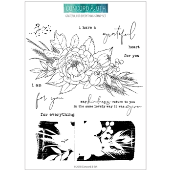 Concord & 9th GRATEFUL FOR EVERYTHING Clear Stamp Set 10441