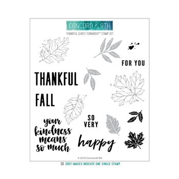 Concord & 9th THANKFUL LEAVES TURNABOUT Clear Stamp Set 10444