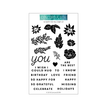 Concord & 9th SO HAPPY FOR YOU Clear Stamp Set 10447
