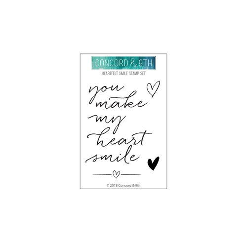 Concord & 9th HEARTFELT SMILE Clear Stamp Set 10423* Preview Image