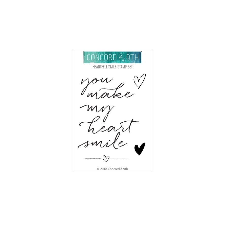 Concord & 9th HEARTFELT SMILE Clear Stamp Set 10423* zoom image