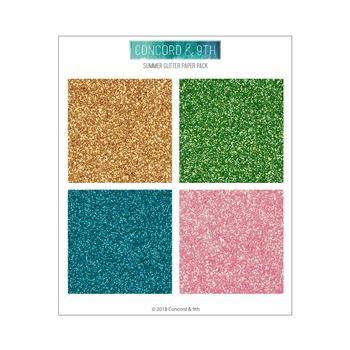 Concord & 9th SUMMER GLITTER 6x6 Paper Pack 10407
