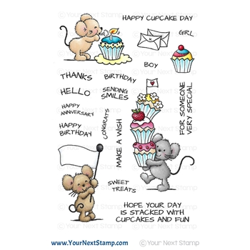 Your Next Stamp CUPCAKE DAY Clear cyns662