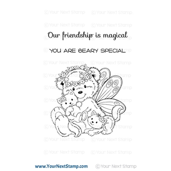 Your Next Stamp FAIRY BEAR Clear cyns645