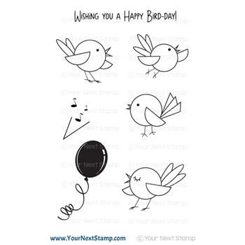 Your Next Stamp HAPPY BIRD-DAY Clear cyns663