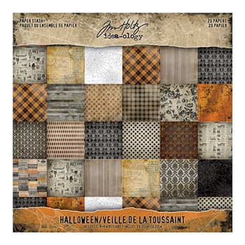 RESERVE Tim Holtz Idea-ology 8 x 8 Mini Paper Stash HALLOWEEN Paperie th93712
