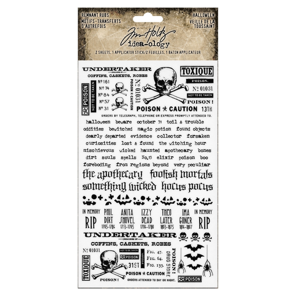 Tim Holtz Idea-ology HALLOWEEN Remnant Rubs th93722 zoom image
