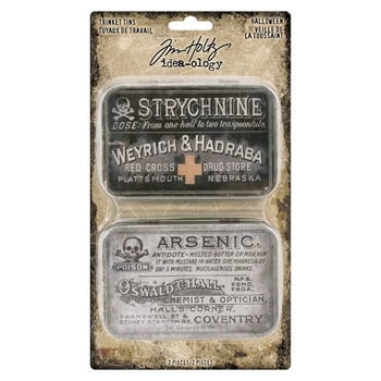 RESERVE Tim Holtz Idea-ology HALLOWEEN Trinket Tins th93726