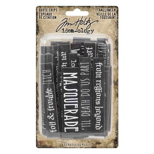 Tim Holtz Idea-ology HALLOWEEN Quote Chips th93728 Preview Image