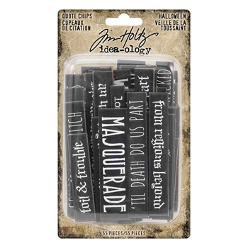 Tim Holtz Idea-ology HALLOWEEN Quote Chips th93728