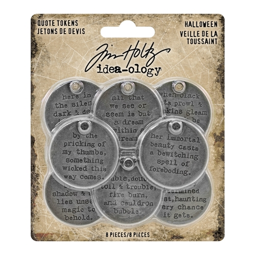 Tim Holtz Idea-ology HALLOWEEN Quote Tokens th93733 Preview Image