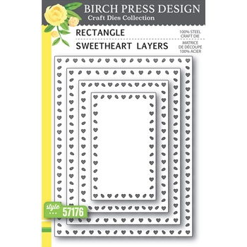 Birch Press Design RECTANGLE SWEETHEART LAYERS Craft Dies 57176