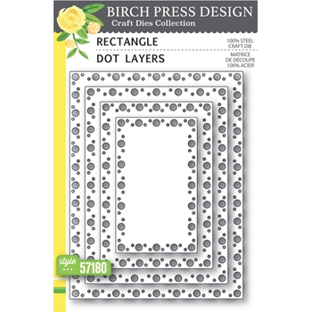 Birch Press Design RECTANGLE DOT LAYERS Craft Dies 57180