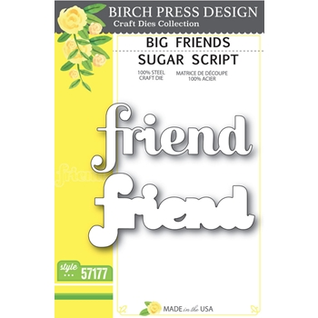 Birch Press Design BIG FRIEND SUGAR SCRIPT Craft Dies 57177