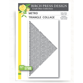 Birch Press Design METRO TRIANGLE COLLAGE Craft Dies 57189