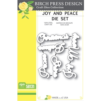 Birch Press Design JOY AND PEACE Craft Die Set 58131